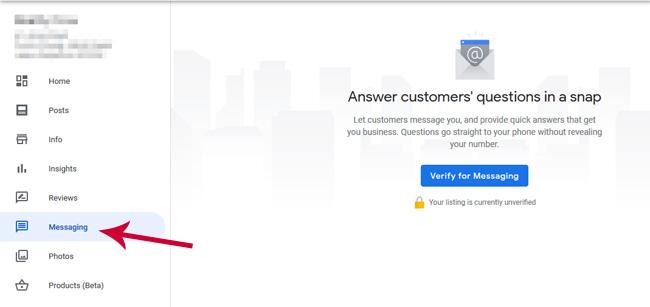 messaging google my business